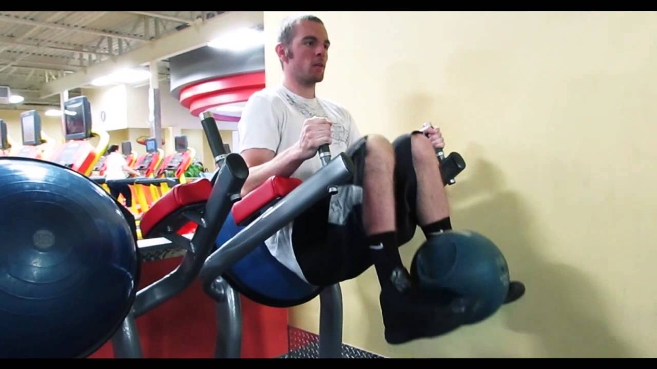 Abs How To Do A Roman Chair Weighted Knee Raise Youtube