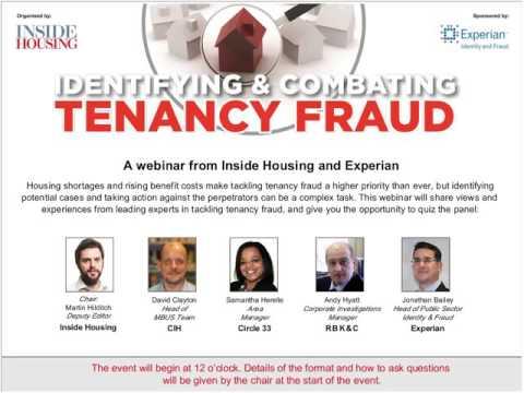 Identifying and Combating Tenancy Fraud Webinar