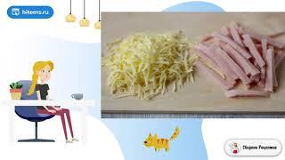 Паппарделле с ветчиной сыром и зеленым горошком Классический рецепт с фото