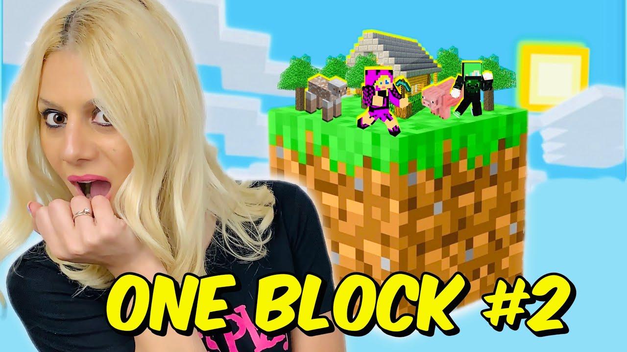 ΚΥΝΗΓΑΩ ΜΙΑ ΚΑΤΣΙΚΑ ONE BLOCK #2 Minecraft Let's Play Kristina @Famous Games