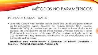 KRUSKAL-WALLIS  Ejercicio n°1