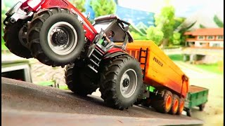 RC TRACTOR Massey Ferguson Power Test / FARM MACHINERY 1:32 in Action