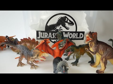 Jurassic World Toys T Rex and Ankylosaurus  Play Set Kinder Surprise Dinosaur Eggs Play Dohs