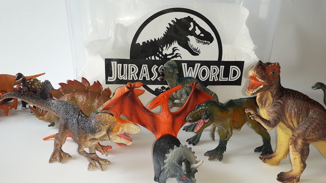 Jurassic World Toys T Rex And Ankylosaurus Play Set Kinder Surprise