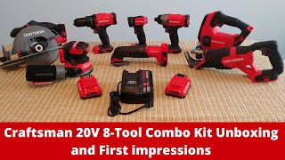 Craftsman 20V 8-Tool Combo Kit Unboxing and First impressions