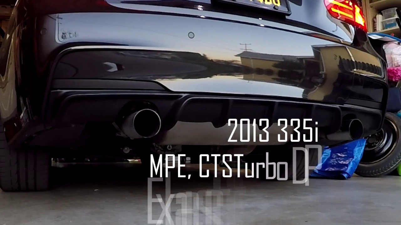 BMW F30 335i -MPE Exhaust w/CTSTurbo Downpipe cold start - Самые