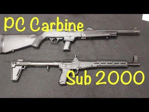 Ruger PC Carbine vs Kel-Tec Sub 2000 - YouTube