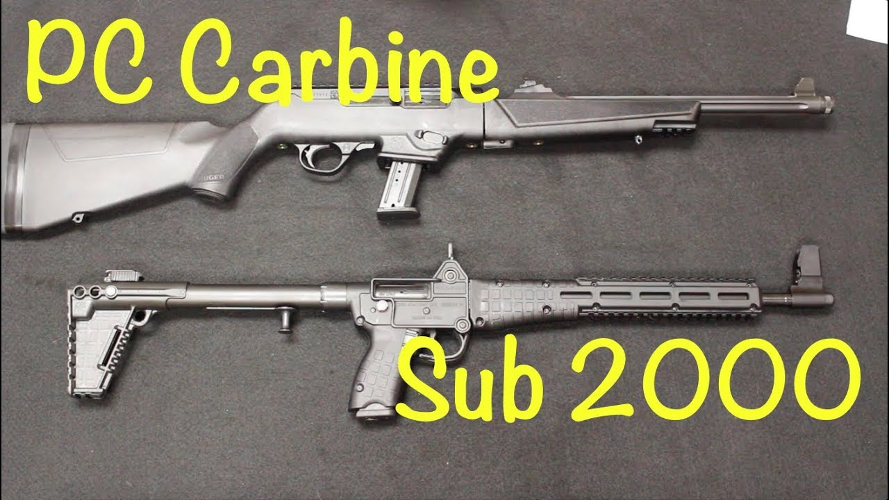 Ruger PC Carbine vs Kel-Tec Sub 2000