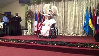 Candice Clarke & T&T's 1st wheelchair dancer Mrs Indrawattie Ramnanan-Williams