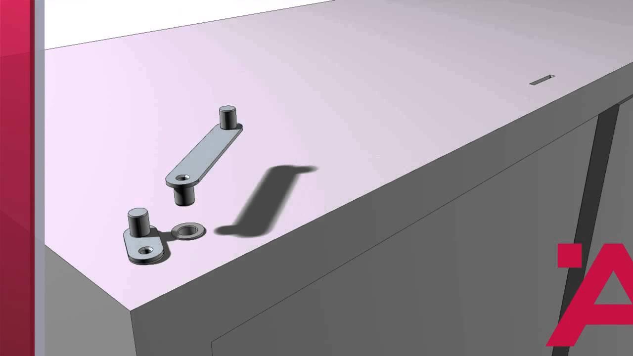 Meccanismi Per Tavoli Pieghevoli.Meccanismo Rotante Per Tavolo Istruzioni Di Montaggio Youtube