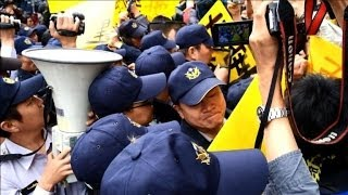 Anti-nuclear protesters scuffle with police in Taiwan