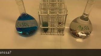Kemian opetusmateriaali: Metallien jännitesarja