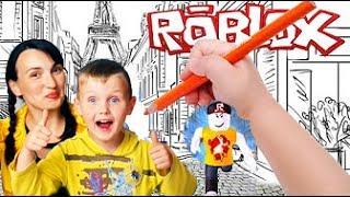 ROBLOX приключения мульт героя РОБЛОКС по детским рисункам ИГРЫ ДЛЯ ДЕТЕЙ kids children