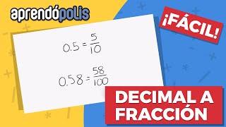 Como convertir decimales a fracciones 1/3