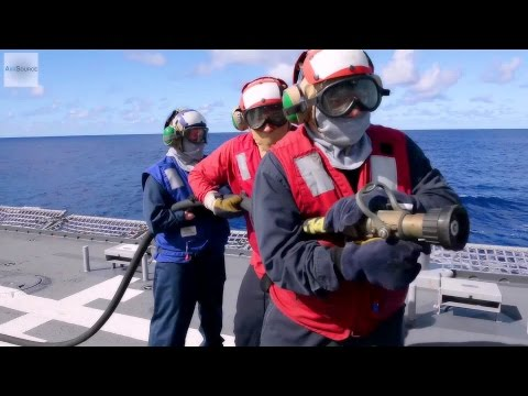 Aircraft Crash Drill Aboard the Littoral Combat Ship USS Fort Worth (LCS 3)