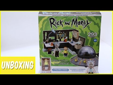 Rick and Morty Spaceship And Garage Construction Set Unboxing | Imports Dragon