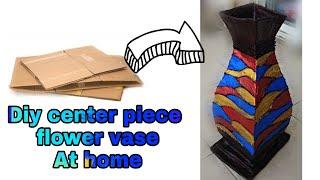 How to make large flower vase at home / Diy flower vase / Diy cardboard craft