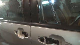 Как снять молдинги стёкл, передней и задней двери. Mazda MPV.