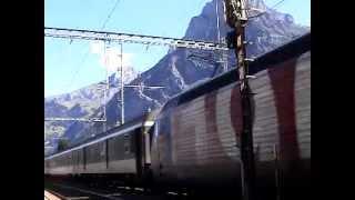 Europe Rail 2002  BLS Lötschenpass Bf. Kadersteg SBB Re460-005(100 Jahre SBB) IC814 nach Rocarno