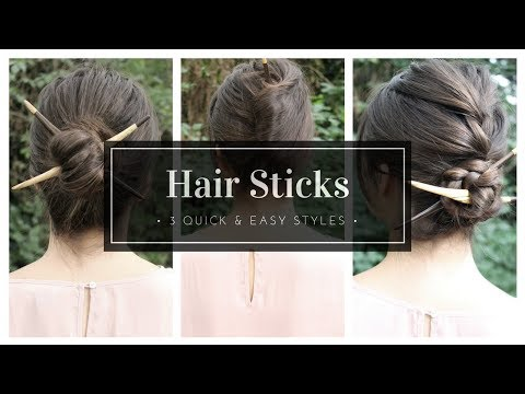 How To Use Hair Sticks | The Basics + 3 Styles