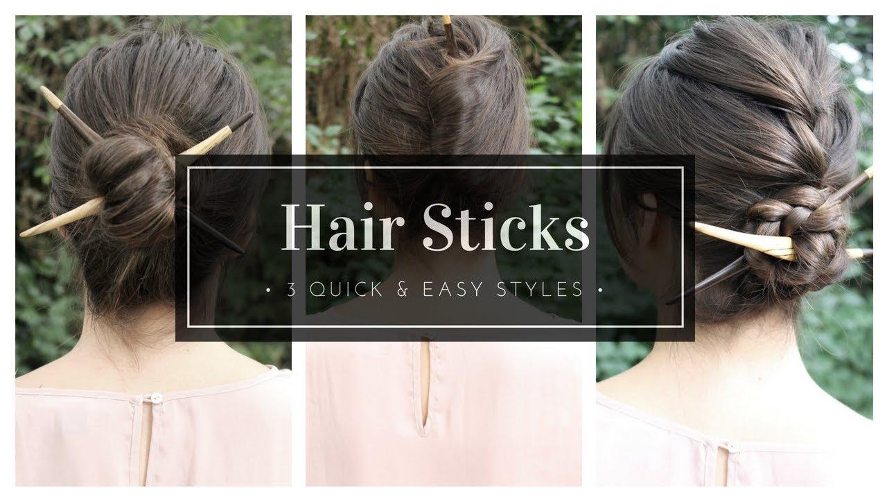 a47f150b2 How To Use Hair Sticks | The Basics + 3 Styles - YouTube