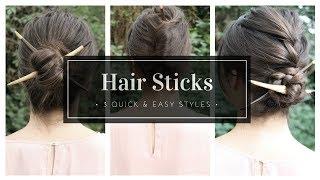 How To Use Hair Sticks | The Basics + 3 Styles