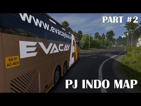 🔴 Evacay Bus - ETS 2 Indian Volvo Bus [PJ Indo Map Mod] Part #2