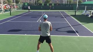 Tomas Berdych / Marcel Granollers Indian Wells BNP Paribas Open 2015 3/10/2015 Practice Video