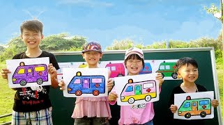 Hacona Police Teacher Go To School Learn Colors Ambulance - Classroom Funny Nursery Rhymes