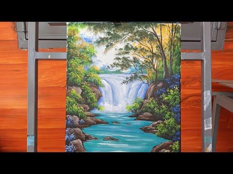(₫23) | art drawing | hướng dẫn vẽ thác nước | drawing guide | learn to draw