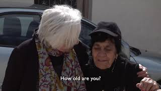 Olympia Dukakis | Olympia meets a local resident in Cyprus