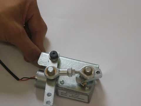 DIY linear actuator 12V 8 RPM reciprocating motor hubkolbenmotor  reciprocating engine motor