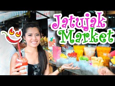Thai Food at Chatuchak Market Bangkok, Thailand Street Food