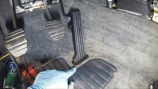 Установка новых троса и педали газа BMW e34 540 Установка медных трубок Руки Базуки