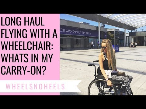 5 TIPS: ♿️FLYING WITH A WHEELCHAIR | 💩 HOW TO PEE & WHATS IN MY CARRY-ON (MUST HAVES)