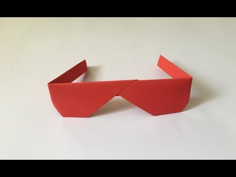 Paper Glasses. Very Simple. Origami