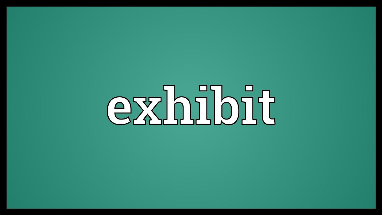 Exhibition Booth Meaning : Exhibit meaning youtube