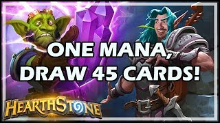 ONE MANA, DRAW 45 CARDS! - Boomsday / Constructed / Hearthstone