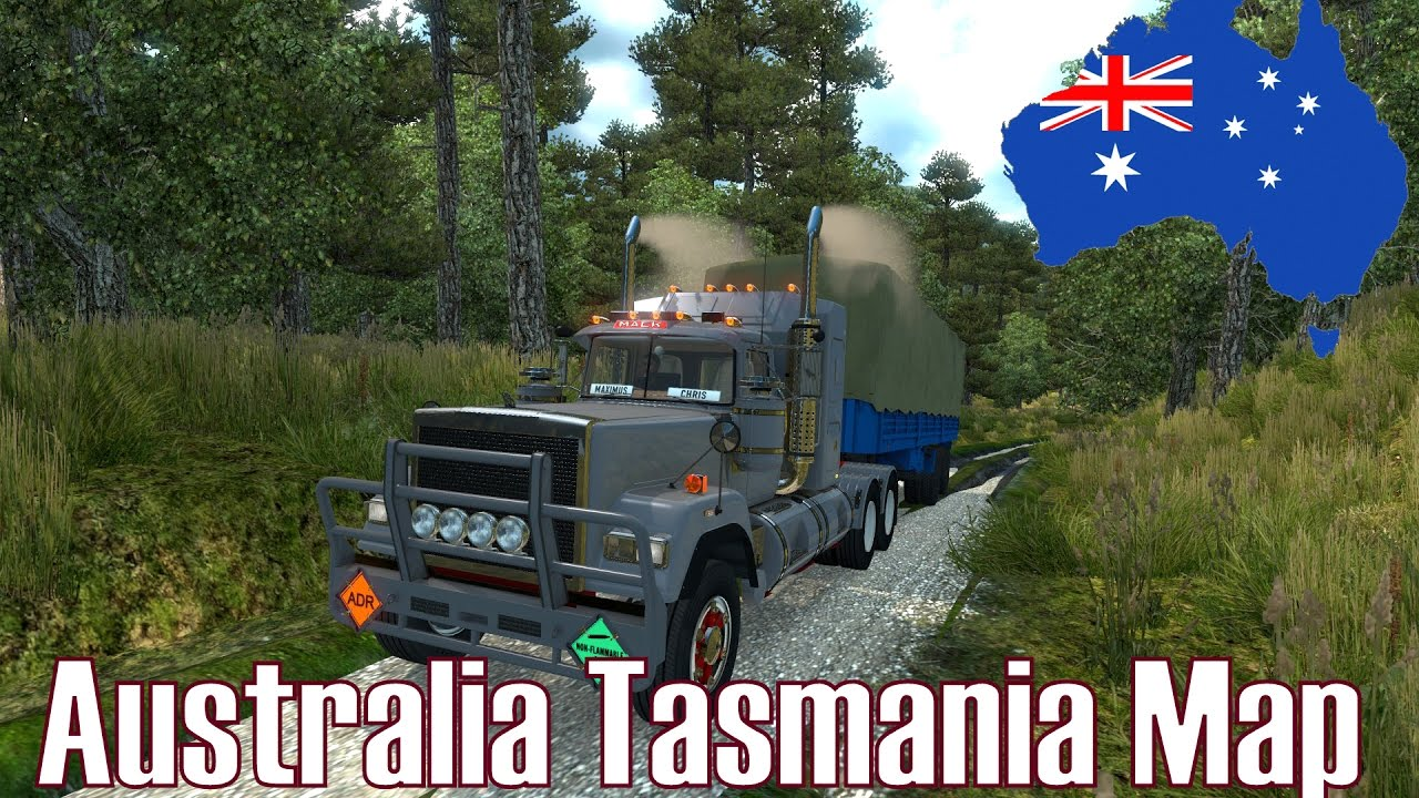 Australia Map Ets2.Ets2 V1 26 Australia Tasmania Map Mod Vorstellung Deutsch Hd