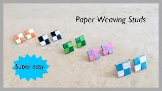 Quilling Paper Weaving Studs / Paper Weaving Studs Charm | Priti Sharma