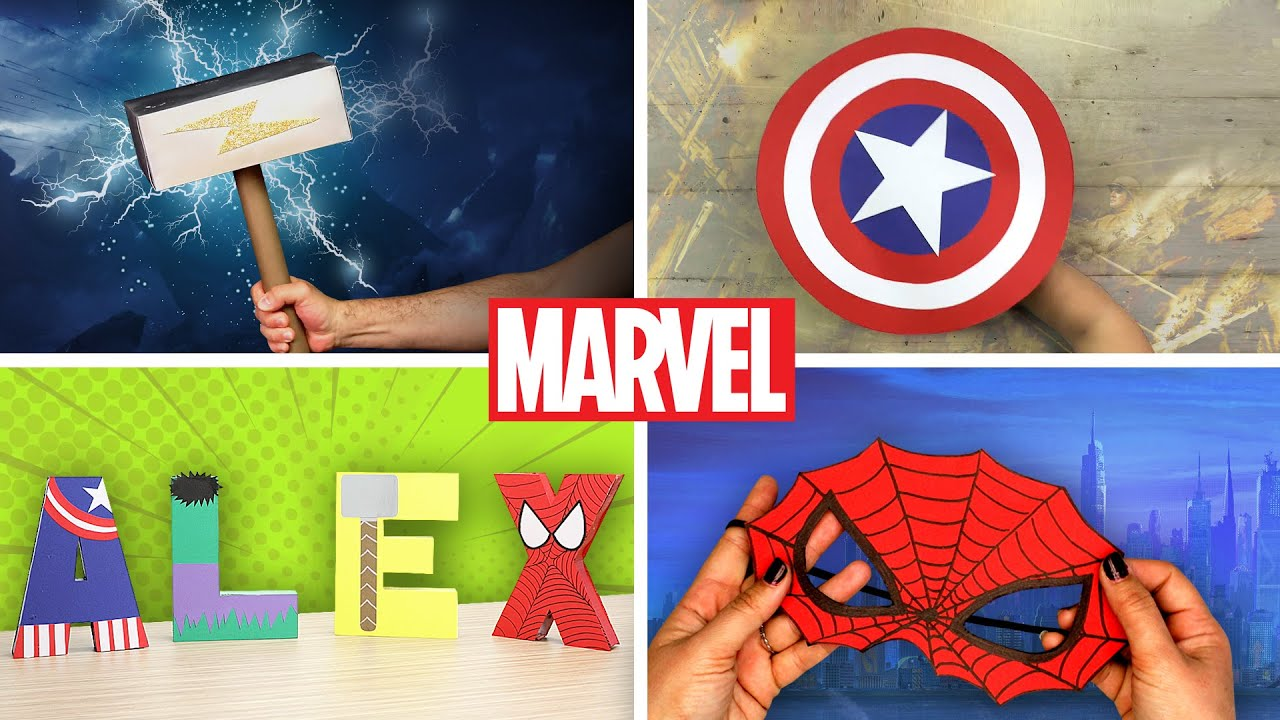 4 Powerful Avengers Crafts | DIY Labs