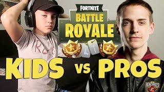 Fortnite Battle Royale Kid Challenges Pros On Twitch (Rocco Piazza)