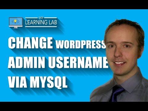 Change WordPress Admin Username Via MySQL - Brute Force Attack Prevention   WP Learning Lab