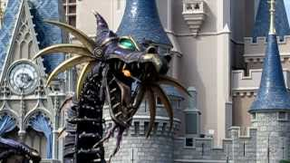 Fire-breathing Maleficent Steampunk Dragon in Disney Festival of Fantasy Parade