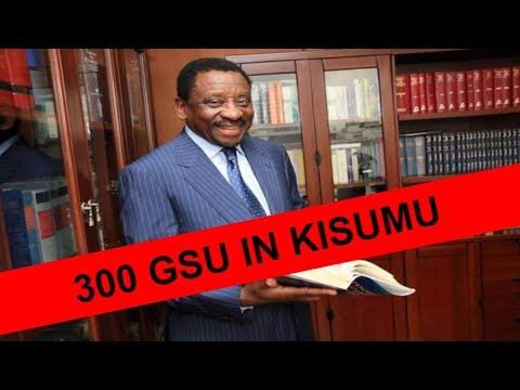 KENYA NEWS: Uhuru in SHOCK as JAMES ORENGO  DEPLOYED 300 GSU IN KISUMU KENYA