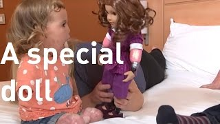 Quadruple amputee toddler gets special doll with prosthetics