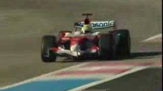 Formula One Toyota TF107 in action