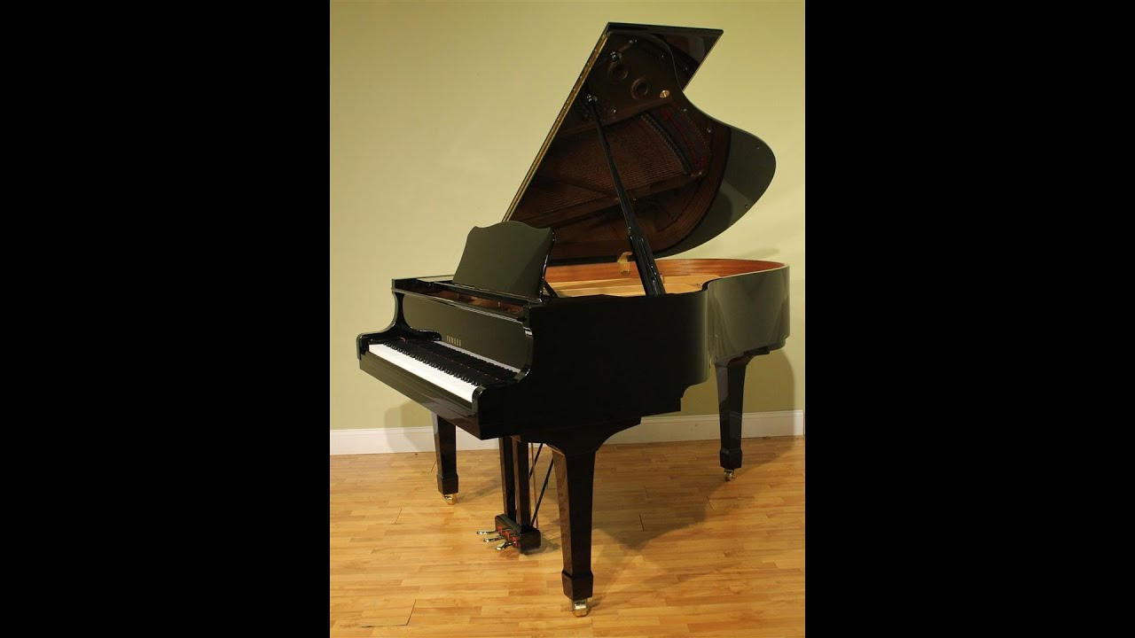 yamaha c2 5 39 8 39 39 grand piano 1999 polished ebony youtube