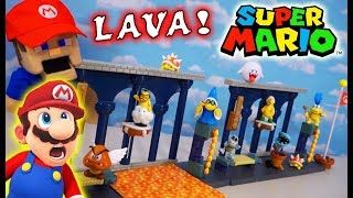 Download Super Mario Bros LAVA CASTLE Diorama Playset! World of Nintendo 2020 Figures Unboxing Mp3 and Videos