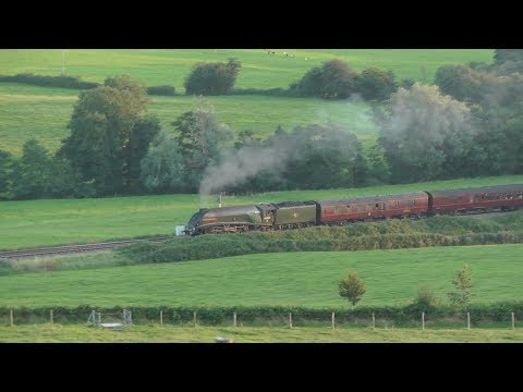 60009 Union of South Africa heads The West Somerset Steam Express - 12/08/2017